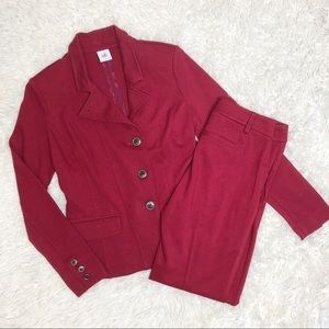 CAbi red pants suit outing blazer Ava trousers 4